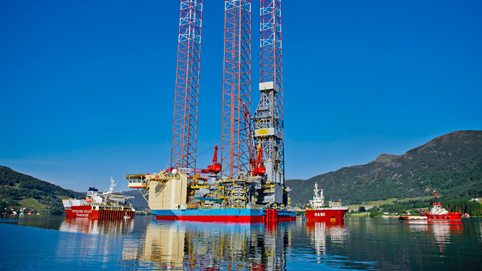 The 'Maersk Intrepid' drilling rig
