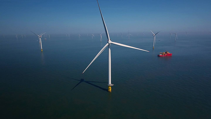 Capable of generating up to 573 MW of green electricity from its 91 Siemens Gamesa 6 MW wind turbines, Race Bank Offshore Wind Farm in the UK was commissioned in 2018