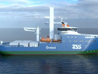 Rendering of one possible design for the planned Service Operations Vessel to be deployed on Ørsted's Greater Changhua offshore wind farms
