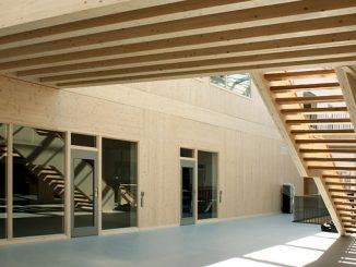 CLT is a solid wood construction product consisting of at least three bonded single-layer panels arranged at right angles to each other