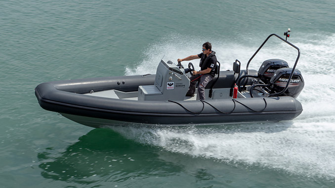 The VIKING Norsafe Metis RIB – robust enough to sustain top speeds of at least 30 knots, even fully loaded