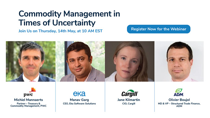 The webinar will bring together a panel of industry experts to discuss the future of commodity management