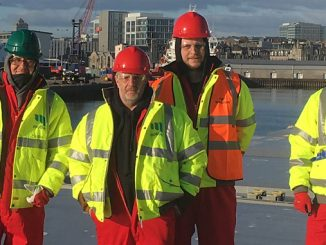 Members of the Motive Fab team pictured last year, at a vessel mobilisation