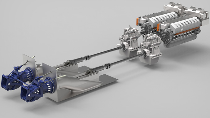A combination of the 16-cylinder Wärtsilä 31 engines and WXJ1500SRI waterjets, has been selected to provide the power for the new Molslinjen high-speed ferry