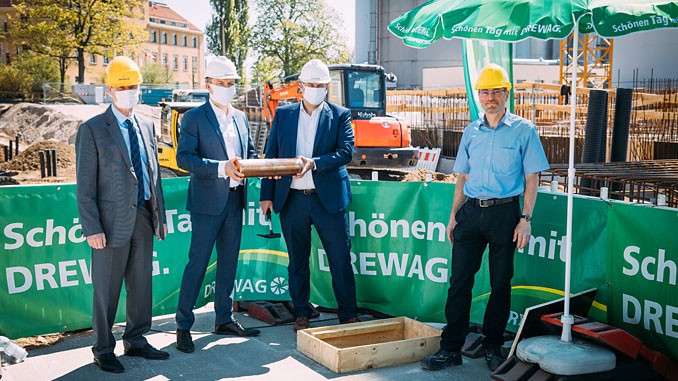 The ground-breaking ceremony for the combined heat and power (CHP) plant to be engineered, procured and constructed by Wärtsilä in Dresden-Reick, Germany, took place on 22 April 2020