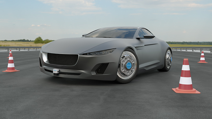 Sensor systems by Kistler combined with Vehico platforms improve the reliability and reproducibility of vehicle testing (photo: Kistler Group)