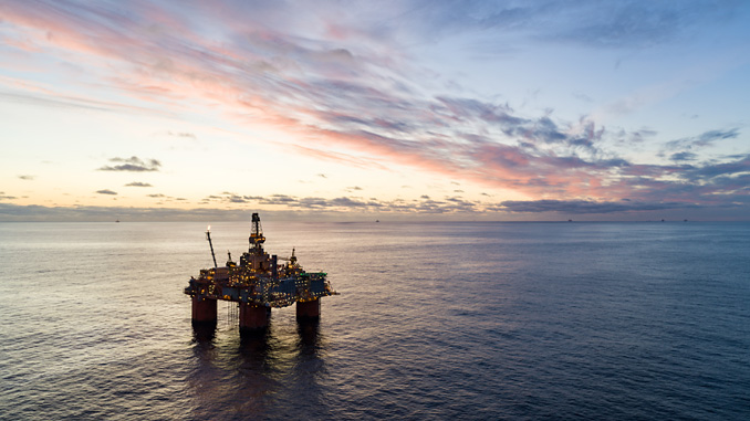 The Snorre A platform in the North Sea