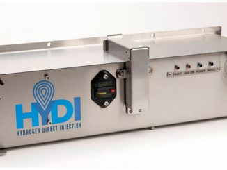 Hydrogen is directly injected into the air-fuel mixture just prior to combustion, which helps the mixture ignite faster and more completely, resulting in greater power using less fuel and creating fewer emissions (photo: HYDI)