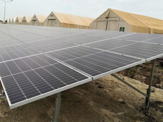 The combined solar and battery storage plant in Malakal, South Sudan, will reduce the diesel consumption by at least 80% (photo: Scatec Solar)