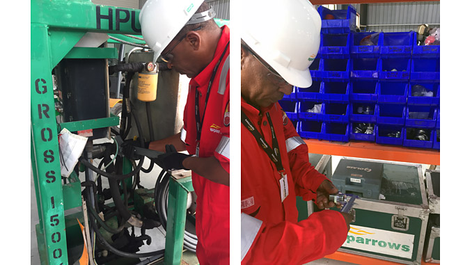 Sparrows employees working at the purpose-built facility in Luanda, Angola