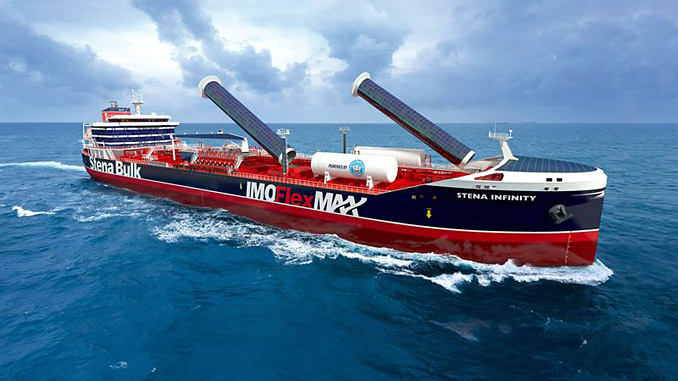 The IMOFlexMAX will be able to reduce greenhouse gas emissions by more than 25% compared to modern product tankers (illustration: Stena Bulk)