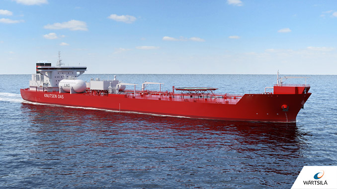 The two new shuttle tankers for the KNOT Group will feature Wärtsilä's unique technology combining VOC recovery with an LNG fuel gas supply system