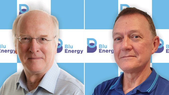 BluEnergy's Hamish Wilson, Lead and Renewables Expert, and Tony Smith, Hydrogen Expert (photos: BluEnergy)