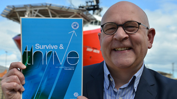 EIC CEO Stuart Broadley with the 2020 Survive and Thrive Insight report (photo: EIC)