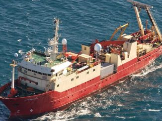 The 'M.V. Fugro Supporter' is a multipurpose survey vessel