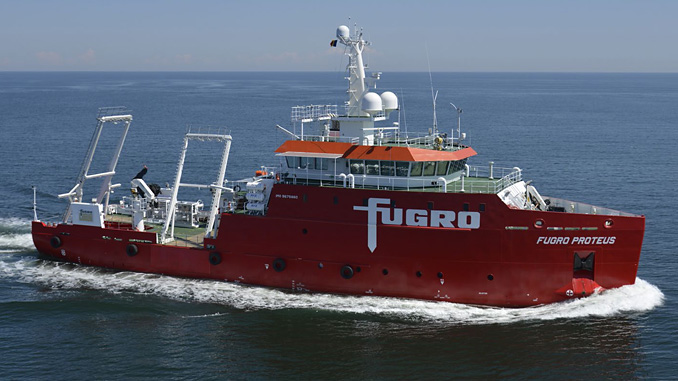 'Fugro Proteus' is designed for geophysical survey, light geotechnical work and environmental baseline surveys