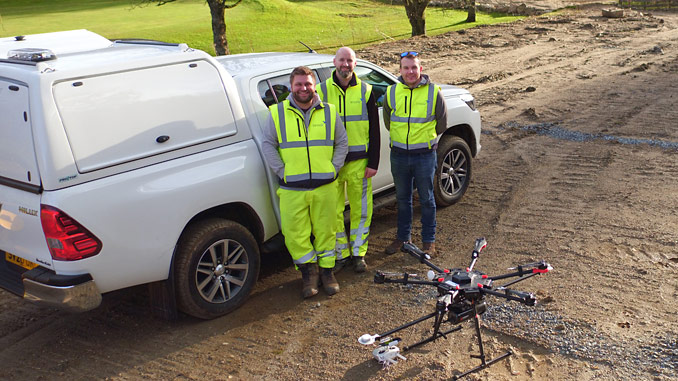From left, Andrew Johnston, Inspection Director; Stuart Lawson, Solutions Director; and Jamie Watt, Survey Director