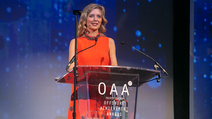Rachel Riley, the 2020 Offshore Achievement Awards host (photo: OAA)