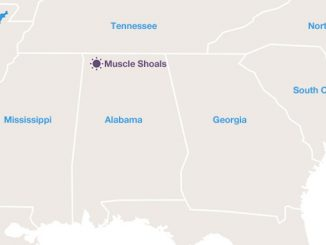 The Muscle Shoals solar project is located in Colbert County, northern Alabama, USA