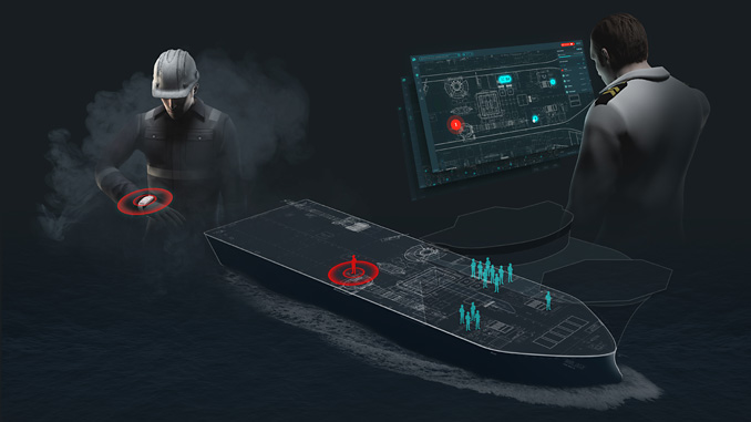 ScanReach has developed a unique technology for onboard wireless digital communication through steel (illustration: ScanReach)