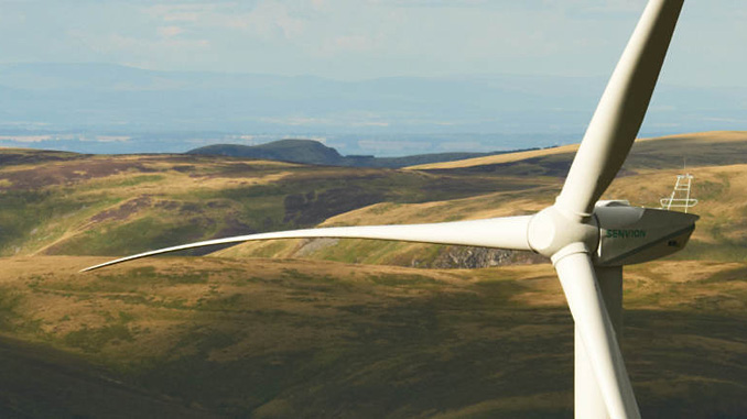 The Senvion MM92 has a rated power output of 2.05 megawatts at a wind speed of 12.5 m/s