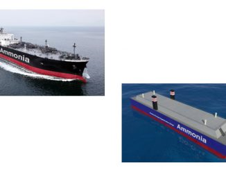 Ammonia-fuelled ammonia gas carrier (AFAGC) and Ammonia floating storage and regasification barge (A-FSRB)