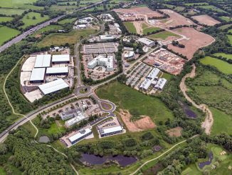 Enzen's ZenLumen Smart Street Lighting Solution at Blythe Valley Park – project to act as case study for smart cities of the future (photo: IM Properties)