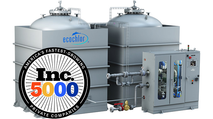 Ecochlor, No. 574 on its annual Inc. 5000 list – the Ecochlor Treatment System