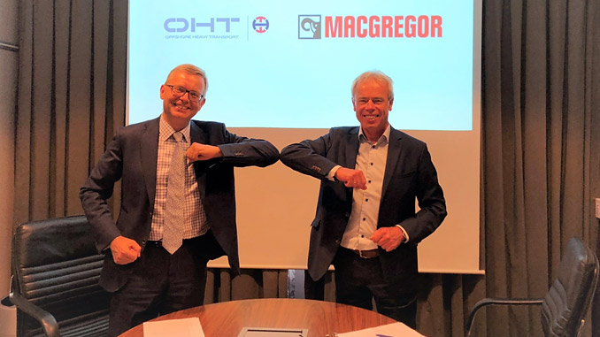 Michel van Roozendaal, President, MacGregor (left) and Torgeir E. Ramstad, Chief Executive Officer, OHT