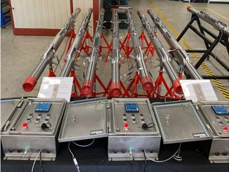 DIAL dual string gas lift production optimisation system during system integration tests at Silverwells Houston manufacturing facility