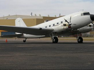 The survey plane at a Cairo airport – the plane has now transited to the survey region and commenced acquisition of the first phase of this extensive program