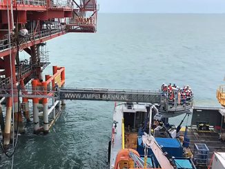 Ampelmann's A-type Enhanced Performance system operating off the East Coast of India