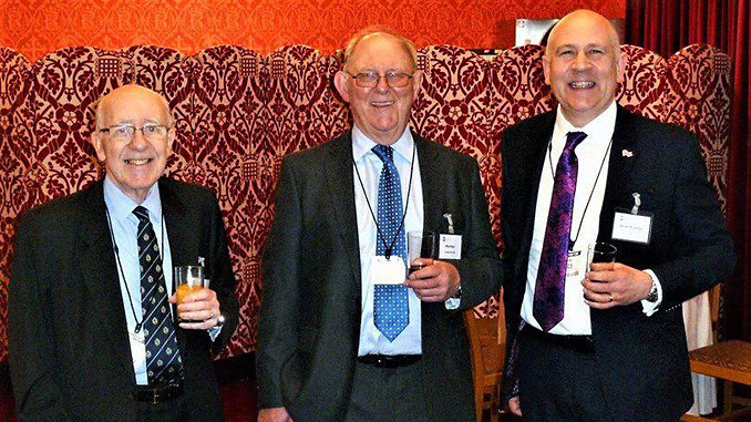 From left, former CEOs Dai Sommerville-Joners and Mike Major join current chief executive Stuart Broadley at the EIC's 75th anniversary in London in 2018 (photo: EIC)
