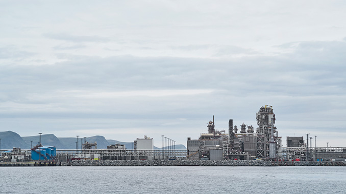 The Hammerfest LNG plant (photo: Equinor ASA/Øivind Haug)
