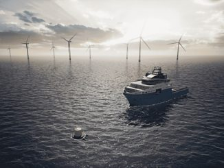 Safe mooring point and a charging station concept (illustration: Ørsted/Maersk Supply Service)