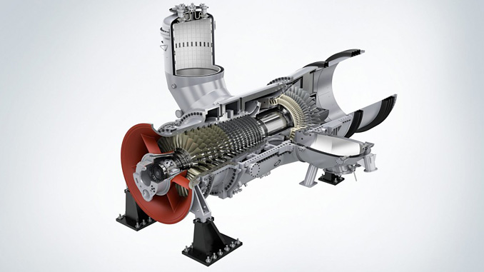 The SGT5-2000E gas turbine supplied by Siemens Energy as a key component for the power plant project