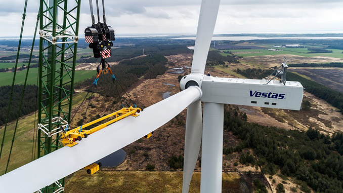 Introduced in 2019, with the launch of V150-5.6 MW and V162-5.6 MW, the EnVentus platform architecture connects proven system designs from the 2 MW platform, 4 MW platform and 9 MW platform turbine technology (photo: Vestas)
