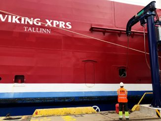 ABB shore connection for 'Viking XPRS'
