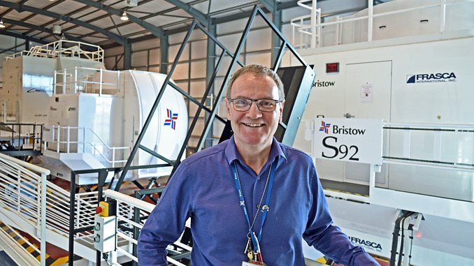 Steve Simpson, ERC simulator and facilities manager at Bristow Helicopters, in the simulation hall