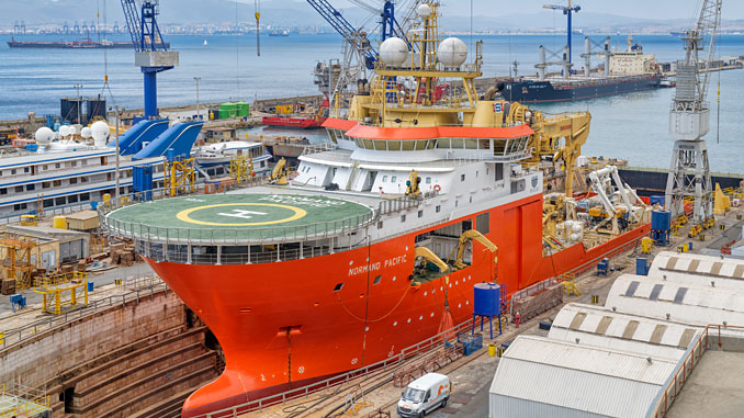 'Normand Pacific' in No. 2 dock for scheduled general maintenance in July
