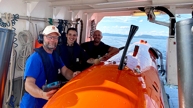 A worthy 2020 AUVSI XCELLENCE third-prize winner – the Kongsberg Maritime team with the HUGIN AUV