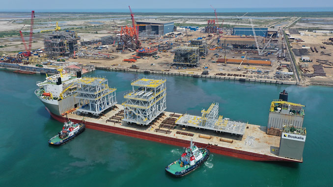 First topside modules for the Area 1 block FPSO