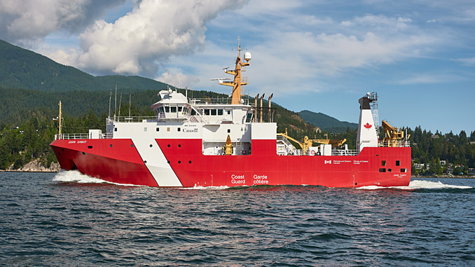 The third in the series of new Canadian Coast Guard OFSVs with Wärtsilä's specially designed low noise propulsion solutions has now been delivered