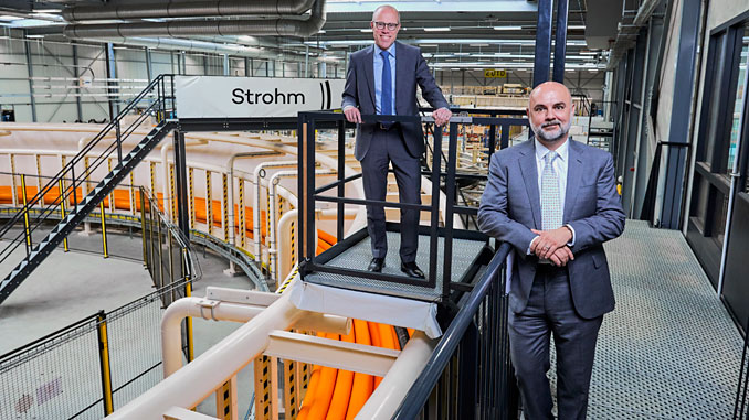 From left, Strohm's CCO Martin van Onna and CEO Oliver Kassam at the firm's HQ in The Netherlands