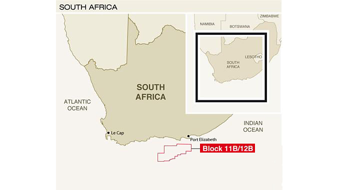South Africa's Block 11B/12B covers an area of 19,000 square kilometres