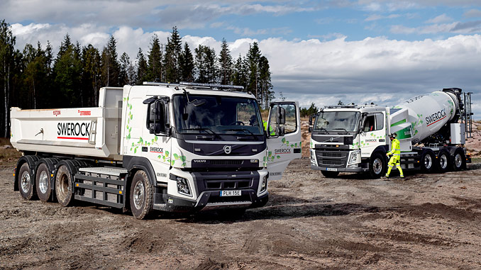 Swerock will begin test driving completely electric transportation solutions for the construction industry – a Volvo FM and a Volvo FMX