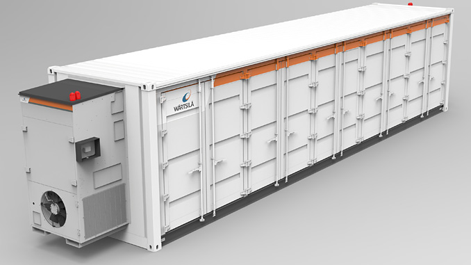Wärtsilä GridSolv Max is a standardised solution that provides flexible and modular storage for the core hardware assets within its energy storage systems