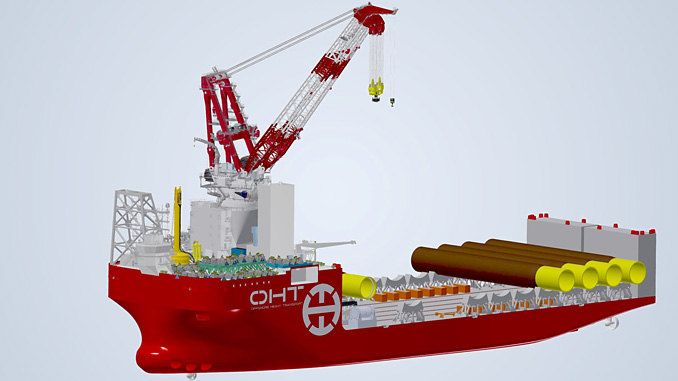 Kongsberg Maritime is to supply a PGGS for the OHT 'Alfa Lift' offshore wind foundation installation vessel
