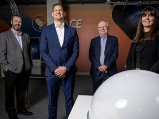 Reopening – from left, Bryan Snelling, Aberdeen Science Centre; Arne Gurtner, Equinor; Professor Stephen Logan, Chair of Aberdeen Science Centre Board; Jill Glennie, OPITO (photo: Aberdeen Science Centre)