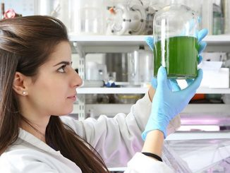 Eni is working with biofixation technology where algae are fed by artificial light using the best wavelengths for photosynthesis